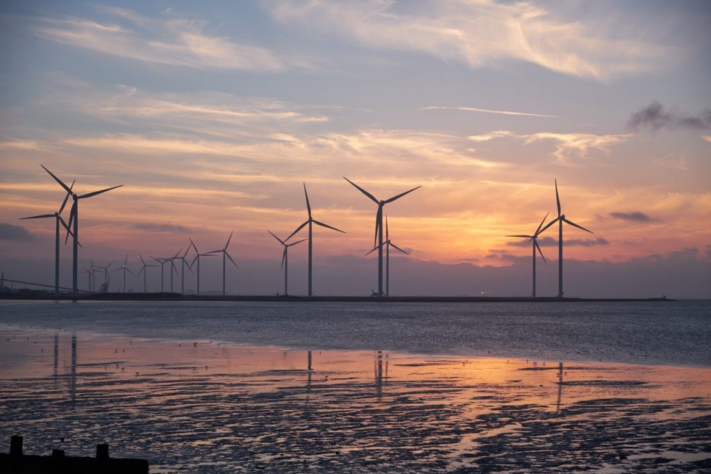 Wind turbines create sustainable energy