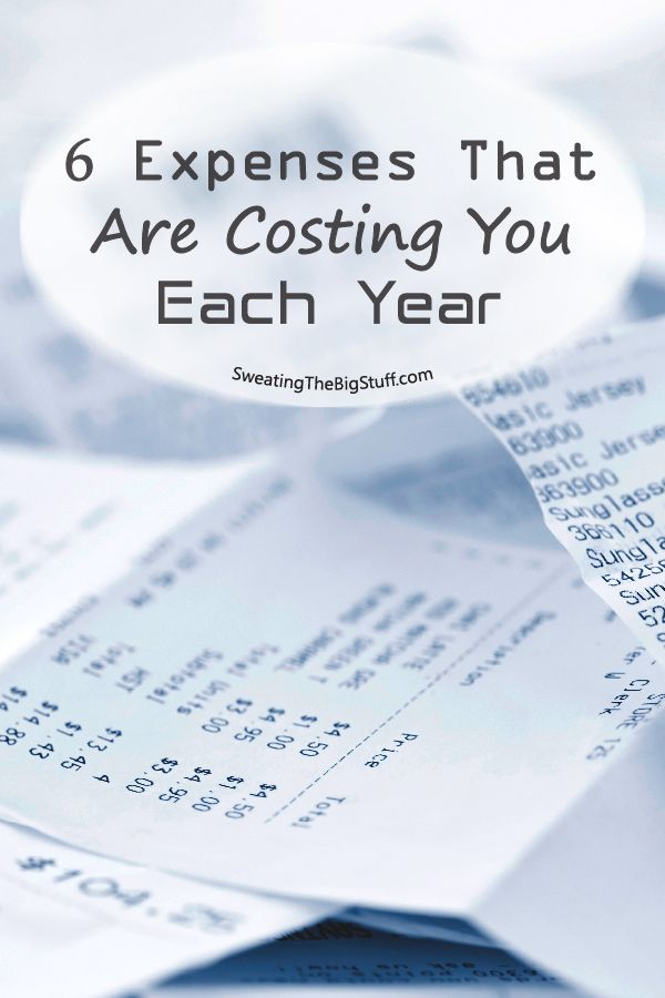 6 Expenses That Are Costing You Thousands Each Year