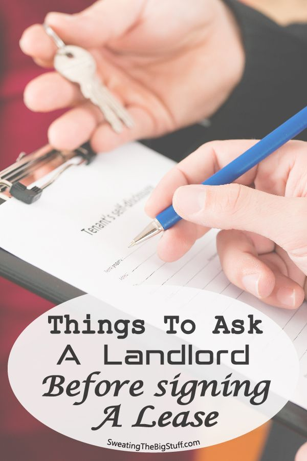 Signing a lease can be very exciting, but there are things you should ask before signing that could save you a lot of stress later!