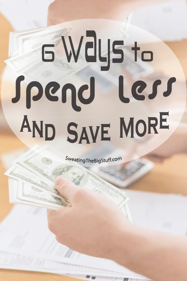 Want to save more money? Here are 6 ways you can start spending less and saving more on a daily basis. And they're all super easy to implement!