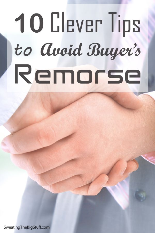 Have you ever bought something only to feel the pangs of regret a few days later? Here are tips that will save you from that dreaded feeling. How many times have you bought something and then regretted it later? I've done it too many times to count!