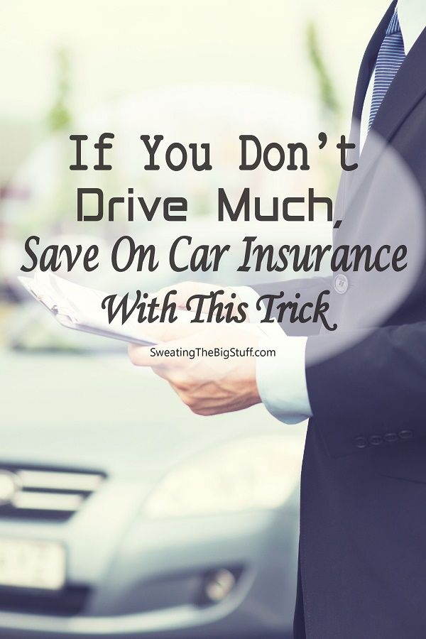 If You Don't Drive Much, Save On Car Insurance With This Trick