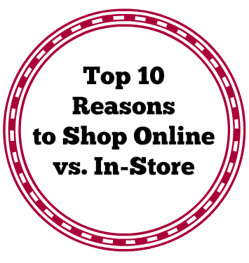 Am I the only one who hates going to a store to shop? Between the long lines and time spend, it's a no brainer to me! I'd rather shop from the comfort of my own home!