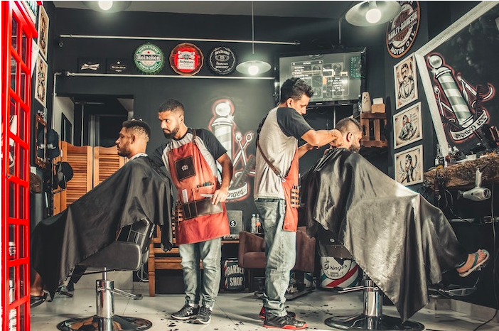 A barbershop, another small business type